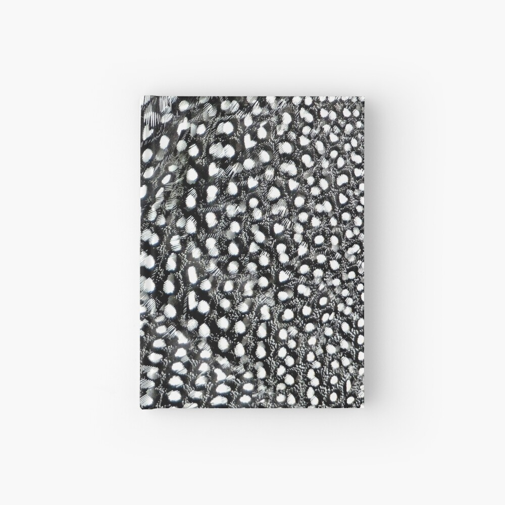 Guinea monochrome feather animal print Hardcover Journal