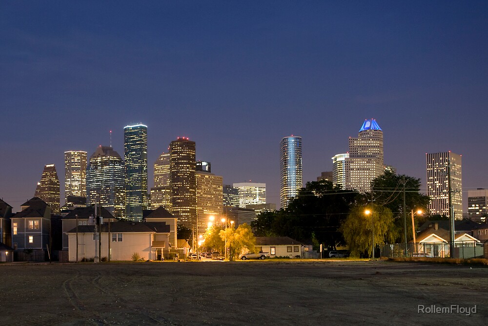 Houston Past Dusk by RollemFloyd