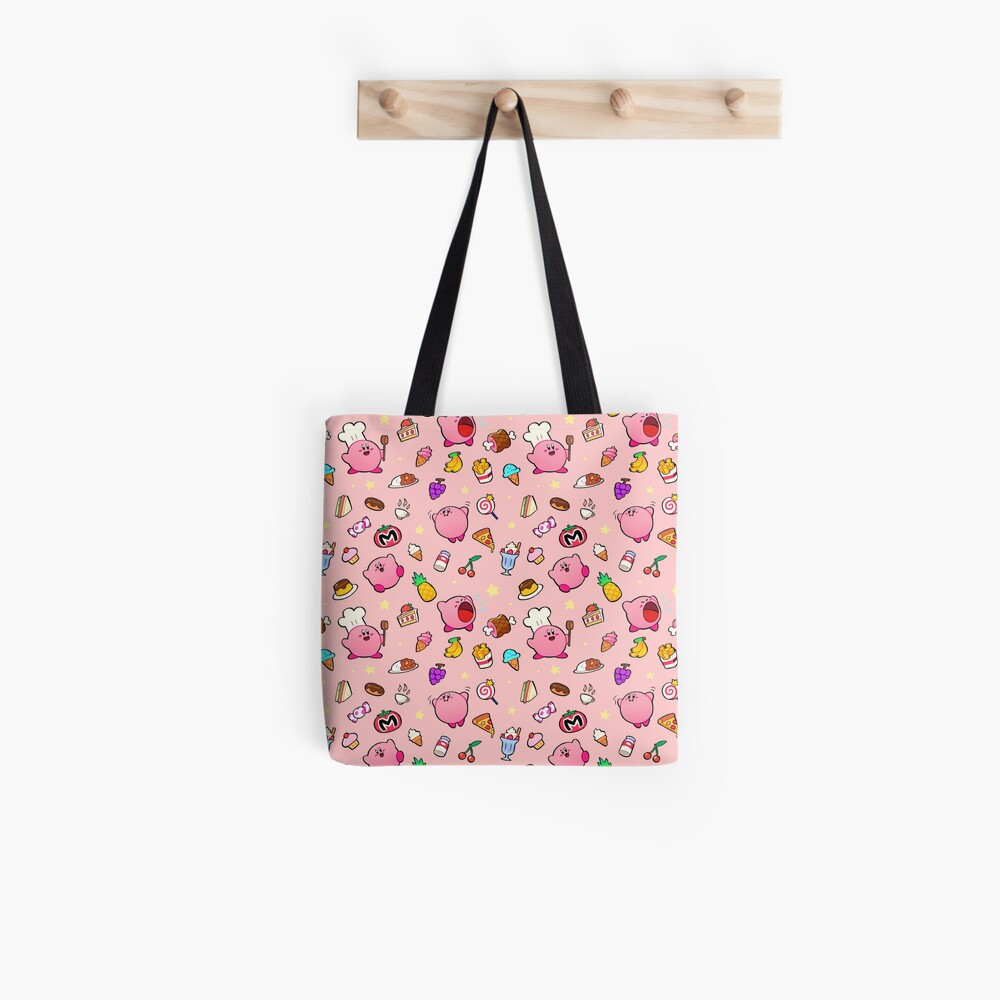 Kirby x Food Pattern Tote Bag