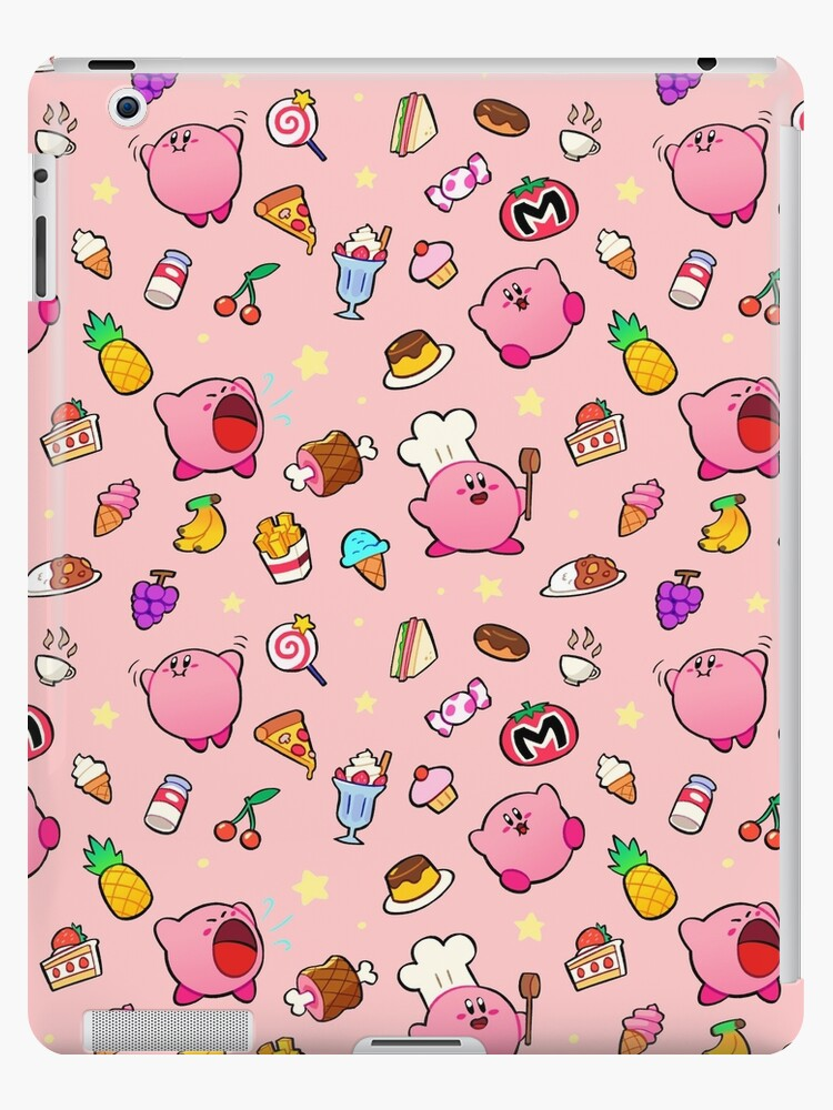 Kirby x Food Pattern by windurr