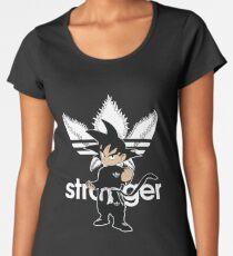 strangerGoku  Things Goku adibas Dragon Ball DBZ black Women's Premium T-Shirt