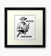High Noon Guns Drawn Framed Print