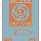 Mini British Leyland car print by Robert Cook