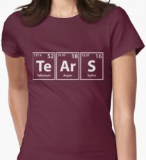 Tears (Te-Ar-S) Periodic Elements Spelling Women's Fitted T-Shirt