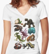 Reptiles & Amphibians  Women's Fitted V-Neck T-Shirt