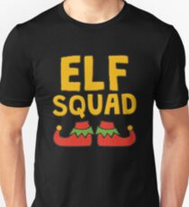 Elf Squad with Elf Shoes Funny Christmas  Unisex T-Shirt