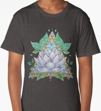 Stained Glass Lotus Illustration Long T-Shirt