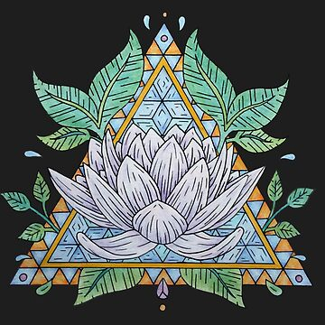 Stained Glass Lotus Illustration by bblane