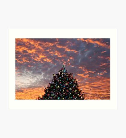 Christmas Sky Art Print