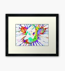 Cow Watercolor Framed Print