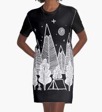 Camp Line Graphic T-Shirt Dress
