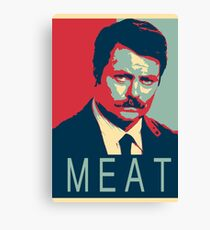 RON SWANSON   MEAT Canvas Print