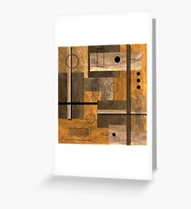Contemporary Abstract Earthtones Greeting Card