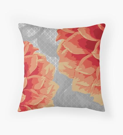Survival of Strong Flowers Throw Pillow