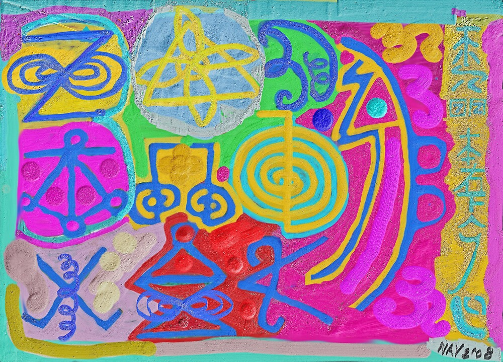 Reiki Healing sign (Pink) by Chitrakar