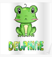 Delphine Frog Poster