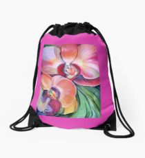 Tropical Orchids Drawstring Bag