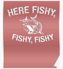Fishing Angling Funny Design Poster
