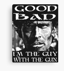 Guy With The Gun Canvas Print