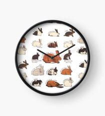 Rabbit Breeds Clock