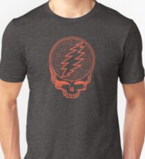 Grateful Dead Steal Your Face Scarlet Fire  Unisex T-Shirt