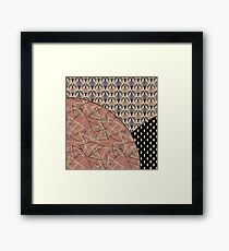 Combo brown patchwork  Framed Print