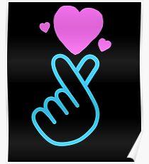 K-Pop Hand Heart Cute Kawaii Gift for Korean Pop Poster