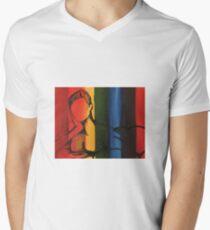 Female Figure Men's V-Neck T-Shirt