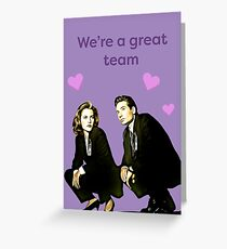 X files valentine- great team Greeting Card