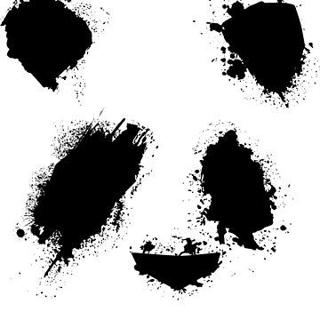 Paint Splatter Panda by Kohs