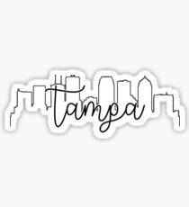 cityscape outline - tampa Sticker