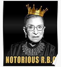 Die berüchtigte Ruth Bader Ginsburg (RBG) Poster