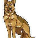 Shepherd Love -Tan by aunumwolf42