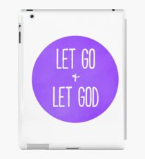 Let Go and Let God - Christian Typography Purple Version iPad Case/Skin