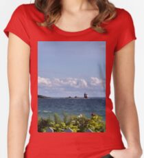View from Mackinac Island Women's Fitted Scoop T-Shirt