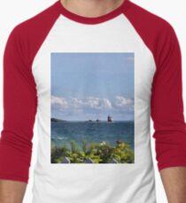 View from Mackinac Island Men's Baseball ¾ T-Shirt