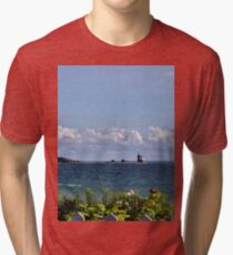 View from Mackinac Island Tri-blend T-Shirt