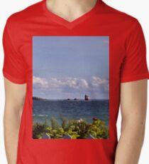 View from Mackinac Island Men's V-Neck T-Shirt