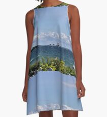View from Mackinac Island A-Line Dress