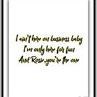 Bruce Lyrics Rosalita 2 by WallsOfFameAust
