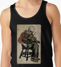 The Death Fiddler And His Sparrow Companion Tank Top
