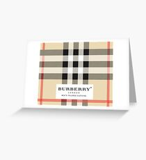burberry London Greeting Card