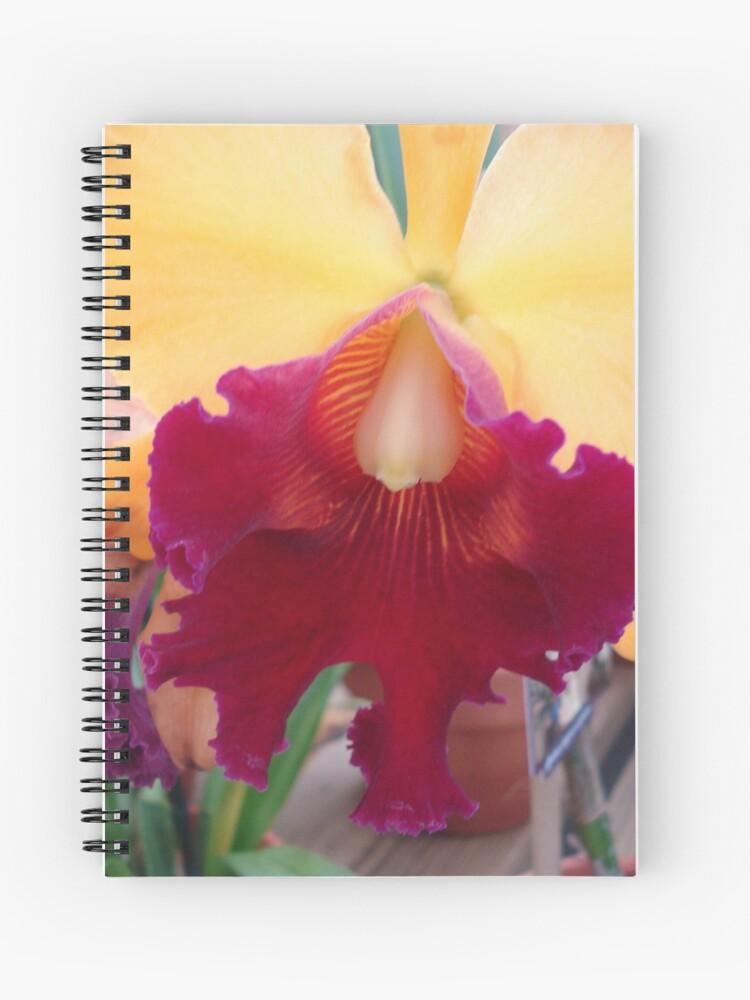Luscious Lips Cattleya Spiral Notebook