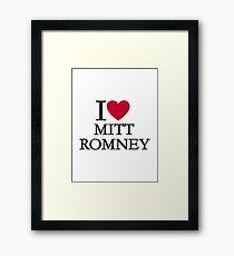 I love Mitt Romney Framed Print