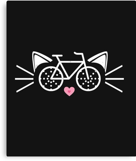 Cat Face Graphic Tee Cycling Enthusiast Bicycle Novelty Gift by arnaldog