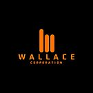 Wallace Corporation logo (on black) by Dave Schweisguth