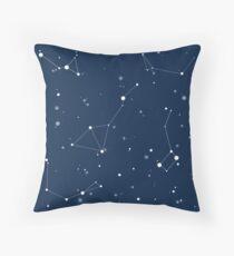 Navy Night Sky Throw Pillow
