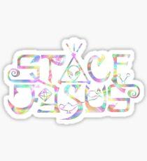 Space Jesus Logo Sticker