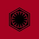 First Order logo (black on red) by Dave Schweisguth
