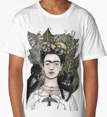 Frida Kahlo self portrait version Long T-Shirt